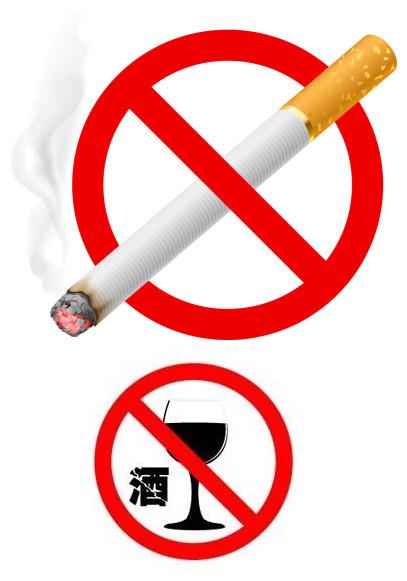 糖尿病患者禁烟禁酒图